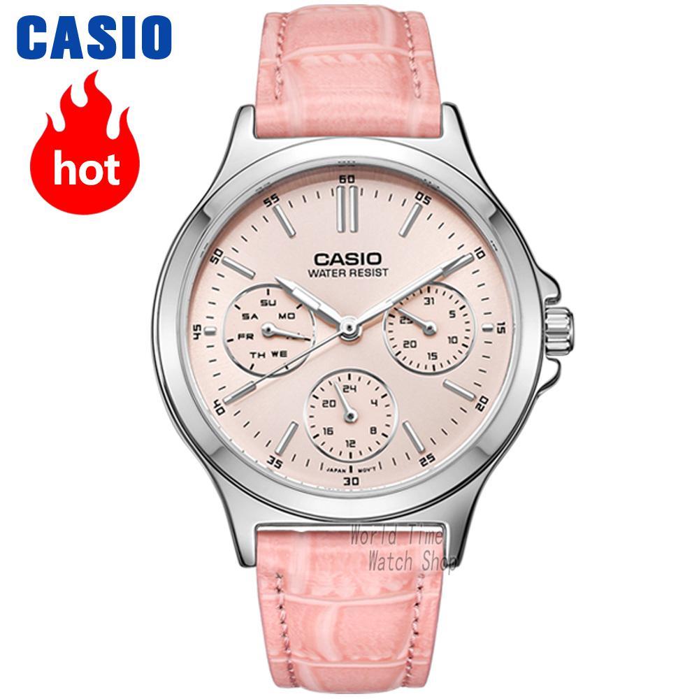 CASIO Часы элегантные женские часы LTP-V300D-1A LTP-V300D-2A LTP-V300D-4A LTP-V300D-7A LTP-V300L-1A LTP-V300L-2A LTP-V300L-4A