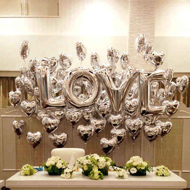 """""""LOVE"""" Patterned Ballon for Valentine's Day"""