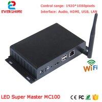 Comparar Vídeo de led de control sistema linsn MC100 versión estándar LED emisor de caja para Asyn