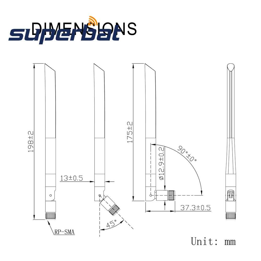 Superbat 4G LTE אנטנה 3dBi omni-directional SMA זכר עבור 4G LTE נתב אלחוטי מודול מרחוק IP מצלמה רכב בית נייד Ce