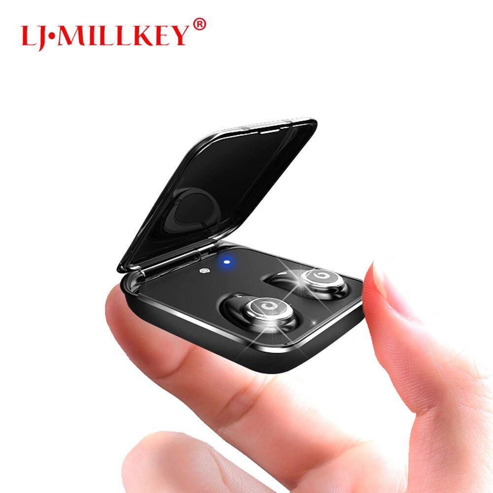TWS Wireless Bluetooth font b Earphones b font True Stereo Earbud Waterproof Headset for Phone HD