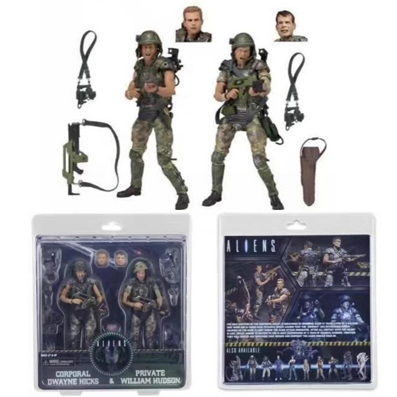 ФОТО Movie 30th AVP Aliens vs Predator Series Corporal Dwayne Hicks and Private William Hudson Soldier Predator Action Figures