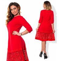 2017 Larger Size Summer Women Lace Dress Sexy Hollow A-line Patchwork Female Dress Plus Size Hook Flower Elegant Vestidos