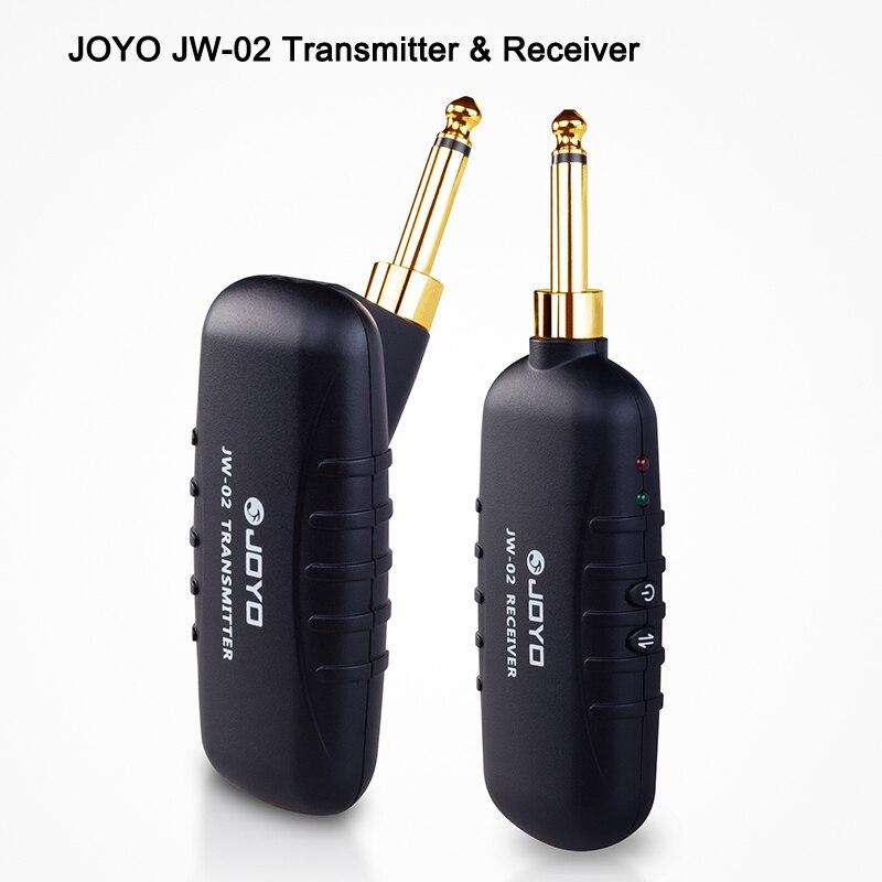 Numérique Pro JW-02 Guitare/Basse Sans Fil 5.8 ghz Audio Émetteur Récepteur kit et Rechargeable Bleu Dent Instruments bateau libre
