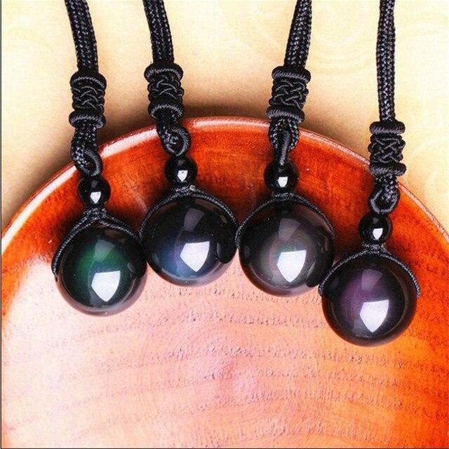 Прямая поставка ожерелье с подвеской из натурального камня черные