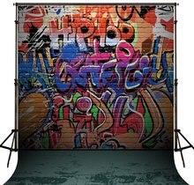 Hip hop foto cenário foto fundo do estúdio Vinil pano Computer impresso Grafite de Alta qualidade
