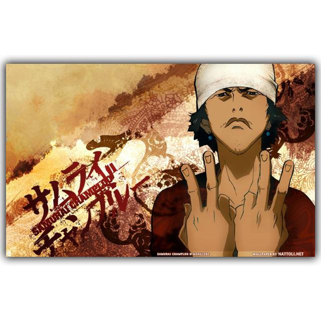 Samurai Champloo Mugen Jin Art Silk Poster Print Japanese Pictures Wall 30x48cm 50x80cm 60x96cm