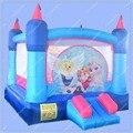 Семейные Использовать Надувной Надувной Замок, Принцесса Отказов Дом с Вентилятором, Moonwalk Вышибала для Детей