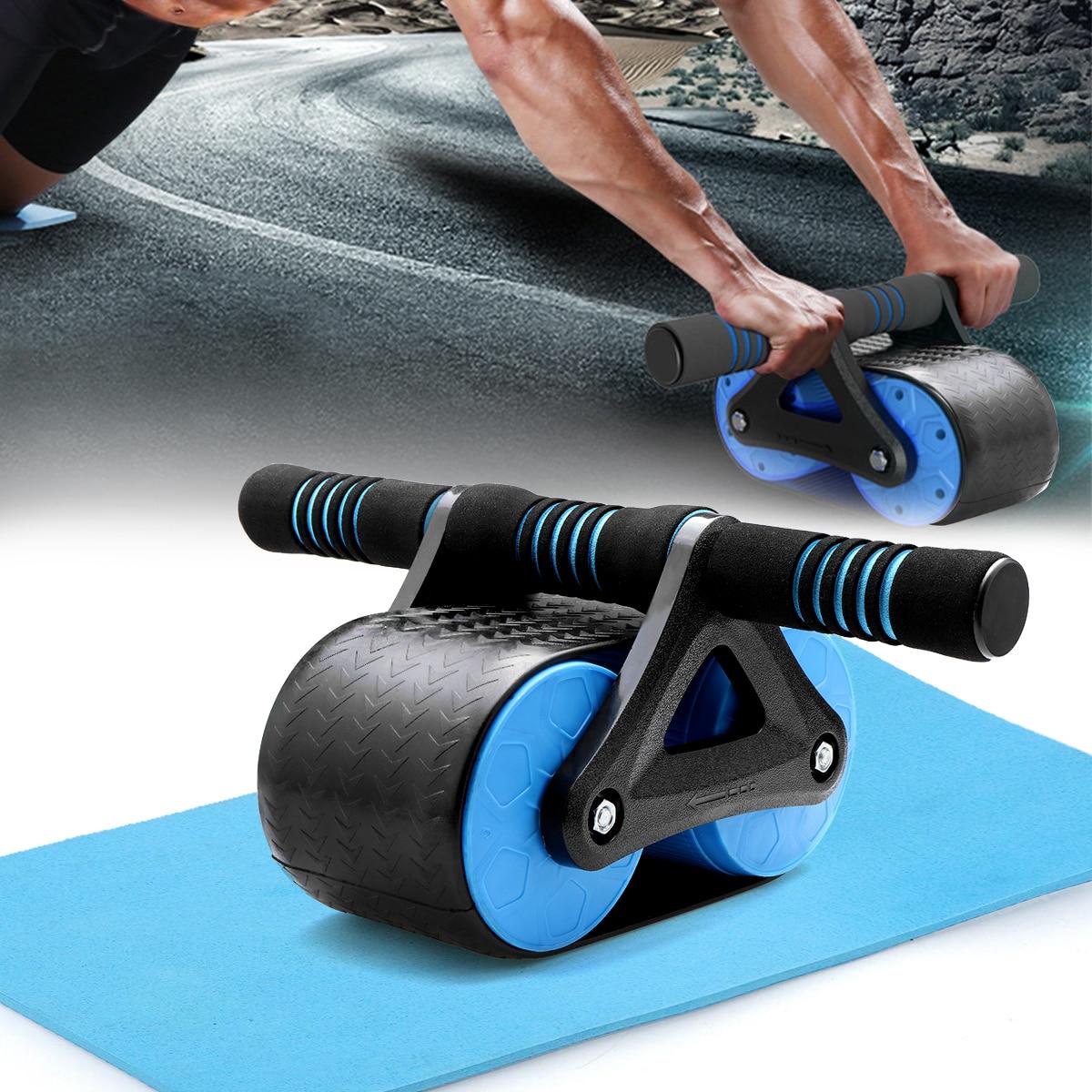 Les muscles abdominaux gardent les roues plus efficaces Double roue Ab rouleau avec tapis pour l'équipement de Fitness d'exercice