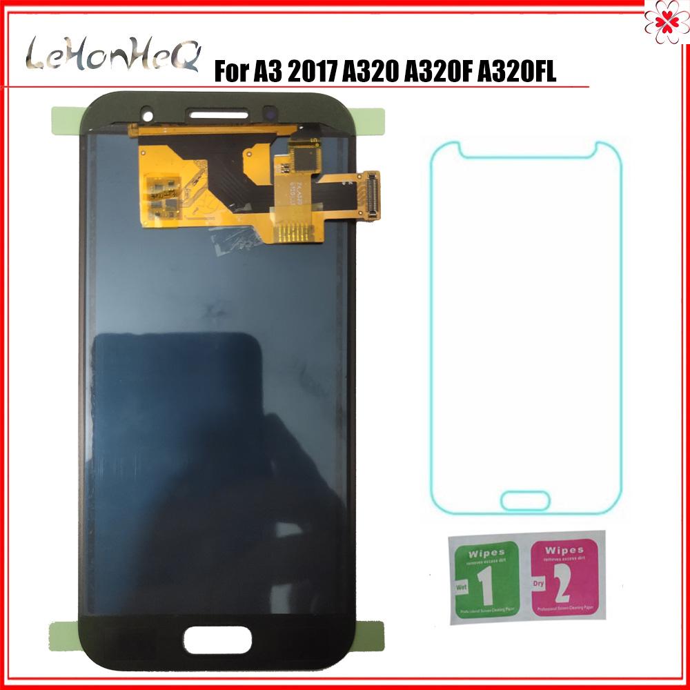 For Samsung Galaxy A3 2017 <font><b>A320</b></font> A320F A320FL A320Y <font><b>LCD</b></font> Display Touch Screen Digitizer Assembly For samsung <font><b>A320</b></font> TFT Adjust <font><b>LCD</b></font> image