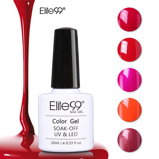 Elite99 10ml Langlebige Nagel Gelpolish Wein Rot Serie UV Nagel Gel Polnisch Soak Off Mode Farbe Nail art design Maniküre Gel
