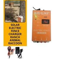 Elektrische Zaun Energizer Solar Ladegerät Hohe Spannung Puls Controller Tier Geflügel Bauernhof Elektrische Fechten Shepherd 10 KM XSD 280B-in Zäune  Gitter und Tore aus Heim und Garten bei