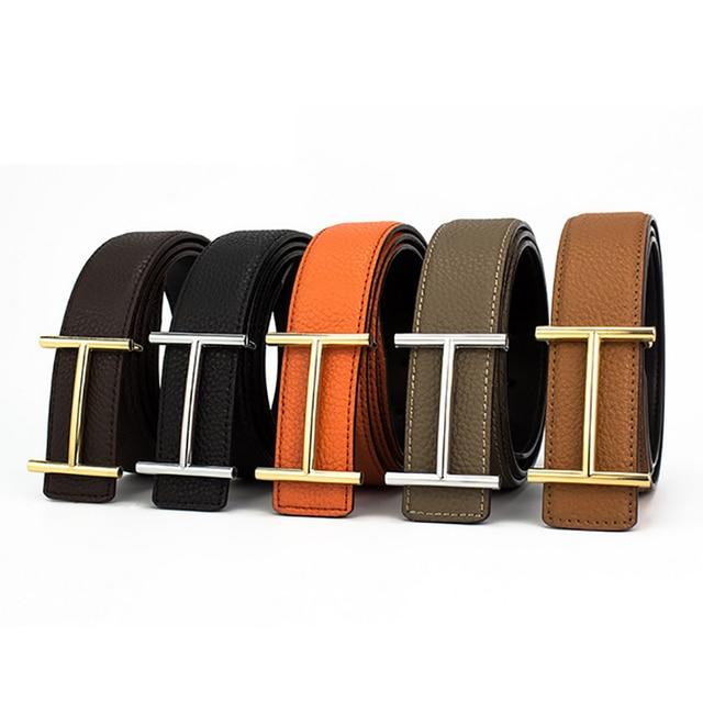 H дизайнер Элитный бренд Ремни для мужские Пояса из натуральной кожи мужской Для женщин повседневные джинсы Винтаж Мода Высокое качество ремень Пояс