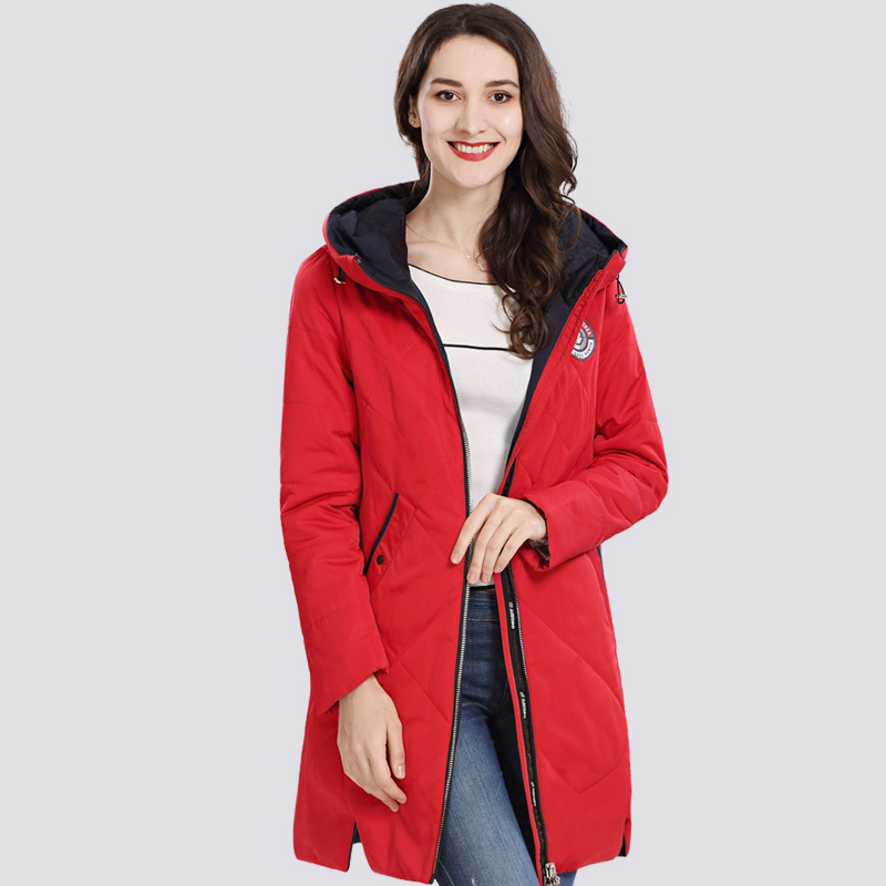 Women's Coat Spring Autum 2019 Hot sale Thin Cotton   Parka   Long Plus Size Hood Women Jacket New Designs Fashion Outwear