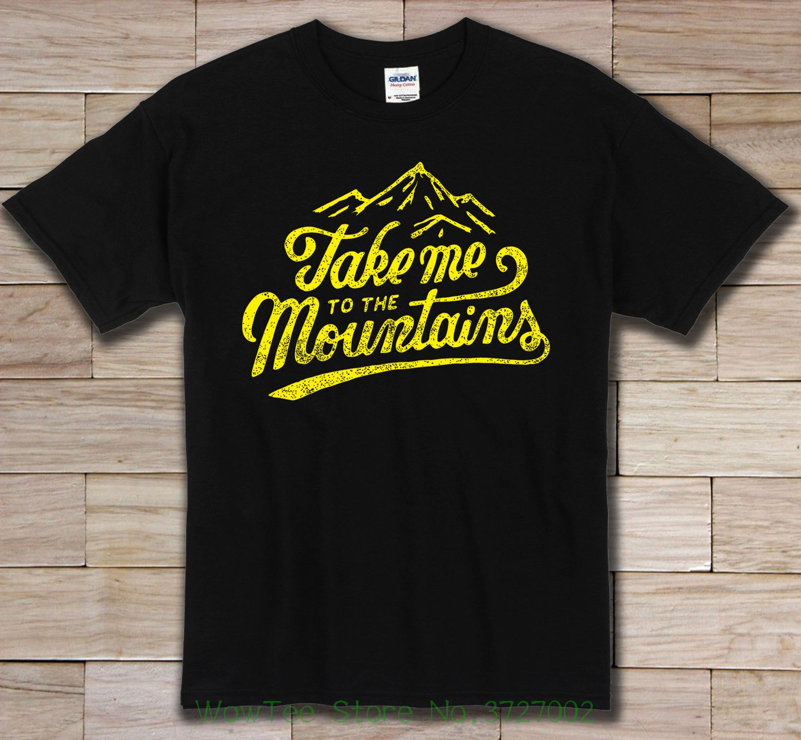 Take Me To The Mountains Funny Black Design T Shirt O Neck T-shirts Male Low Price Steampunk