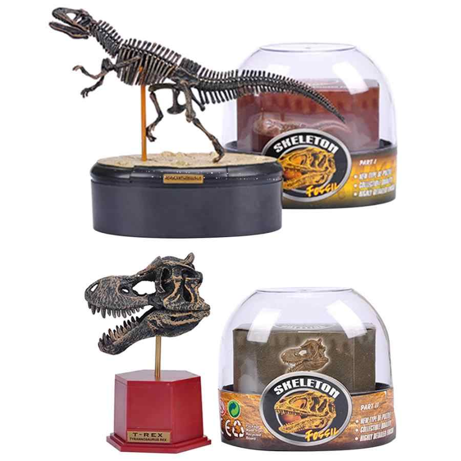 Simulation Dinosaur Fossil Skeleton Animal Model Toy Children Puzzle Science Teaching Toys 4D Assembly Model Toys for Kids Gift