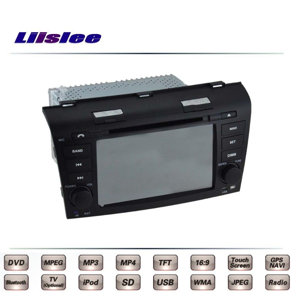 For Mazda 3 For Mazda3 M3 BK 2003~2009 Car Multimedia TV DVD GPS Radio Original Style Navigation Liislee Advanced Navi for mazda m3 box