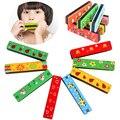 Деревянный Гармоника Музыкальный Инструмент Образовательные Игрушки Малыш Ребенок Красочные Рождественский Подарок