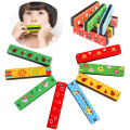Wooden Harmonica Musical Instrument Educational Toy Kid Child Colorful Xmas Gift