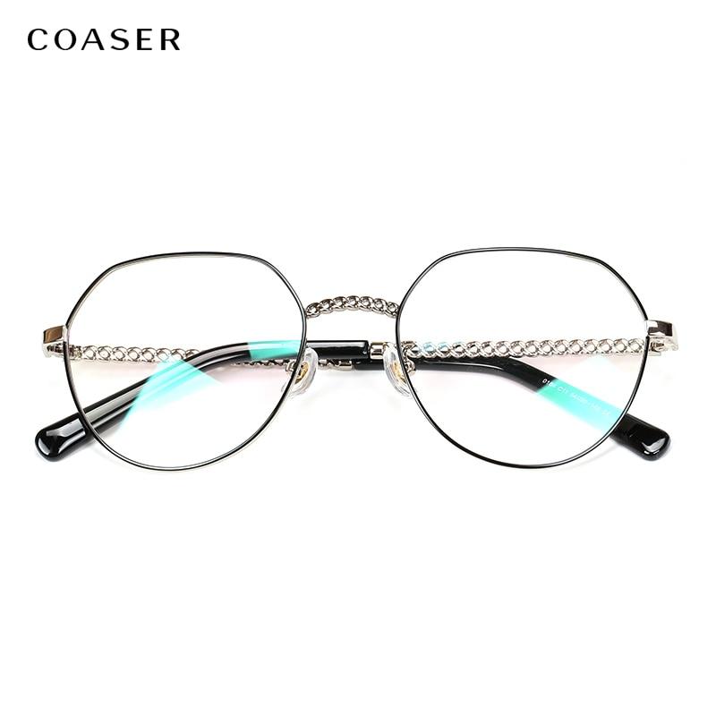 Titane lunettes cadre femmes mode vintage lunettes marque Designer lunettes cadres hommes myopie optique Prescription lunettes