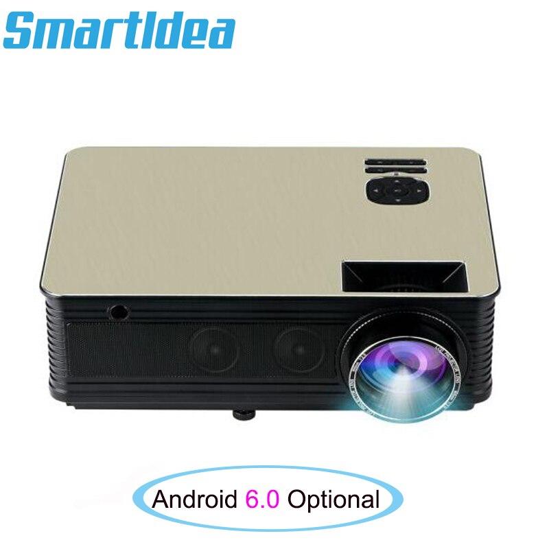 Smartldea HD LED proyector diurno LED86plus (Android 6,0 opcional) Bluetooth 5000lumen 1080P 3D proyector de TV Video juego Beamer Mini proyector con efecto de Nevada IP65 nieve móvil para exterior y jardín Proyector láser Luz de Navidad copo de nieve para fiesta de navidad