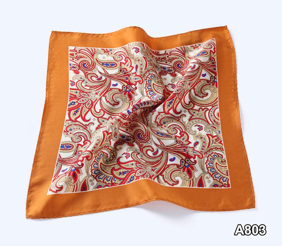 A803,HN06N) Orange Red Paisley 33cm (5)