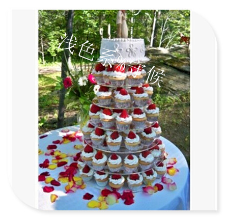 Acrylic Wedding Cake Tower HOT 7 Tier Circle Clear Cupcake Stand