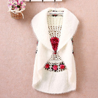 Fashion Autumn Women S Crochet Cape Vest Sweater Outerwear Female Casual Cardigan Sweater Free Shipping