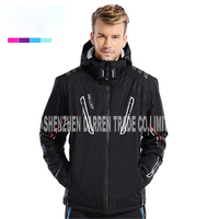 Новый открытый лыжный костюм Для мужчин ветрозащитный Водонепроницаемый Термальность Сноуборд Снег мужской Лыжный спорт куртка и Брюки дл