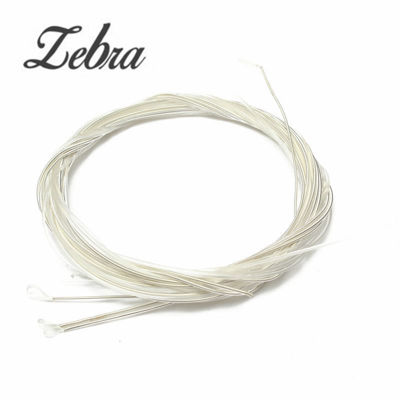 Zebra 6 pcs/Set Guitar Strings Nylon Silver Plating Set Super Light for Acoustic Guitar Music Instruments Parts Accessories classical guitar strings set cgn10 classic nylon silver plated normal tension 028 045 classical guitar strings 6strings set