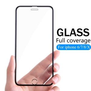 Image 1 - 3D Full Cover Có Kính Cường Lực Dành Cho iPhone 6 6 S 7 8 Plus Kính X Ba Lô Flim iPhone XS Max XR tấm Bảo Vệ Màn Hình Kính Cường Lực Trên IPhone7