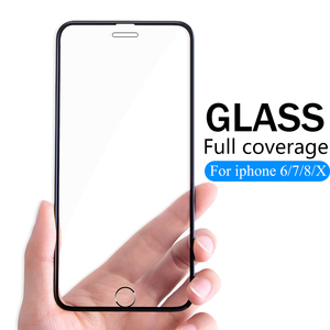 Image 1 - 3D Full Cover protective Glass For iPhone 6 6s 7 8 Plus X glass flim iPhone XS Max XR screen protector tempered glass on iPhone7