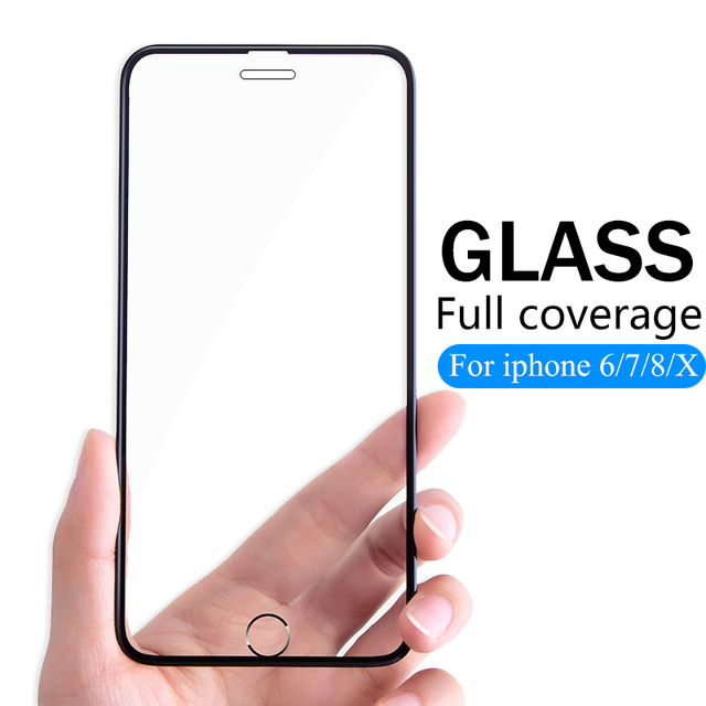 3D Full Cover protective Glass For iPhone 6 6s 7 8 Plus X glass flim iPhone XS Max XR screen protector tempered glass on iPhone7