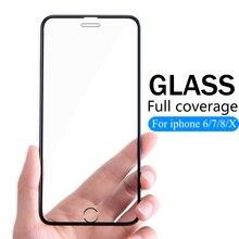 3D フルカバー保護 Iphone 6 6s 7 8 プラス X ガラス flim iPhone XS 最大 XR スクリーンプロテクター強化ガラス iPhone7