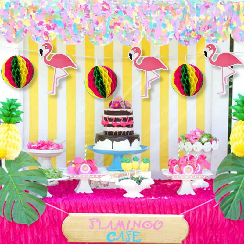 Flamingos Pink Jungle party Hawaiian Tropical Party Supplies ...
