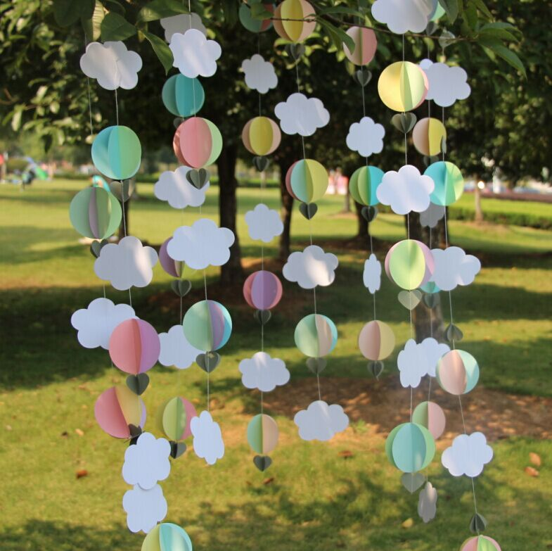 2 1 Meter Hot Air Balloon Garland Baby Shower Decor