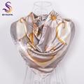 [BYSIFA] marca de Seda Cabo de La Bufanda de Accesorios de Moda Para Las Mujeres 2016 Nuevo Diseño de La Cadena Carriage Bufandas Cuadradas Grandes de Moda Cinturón