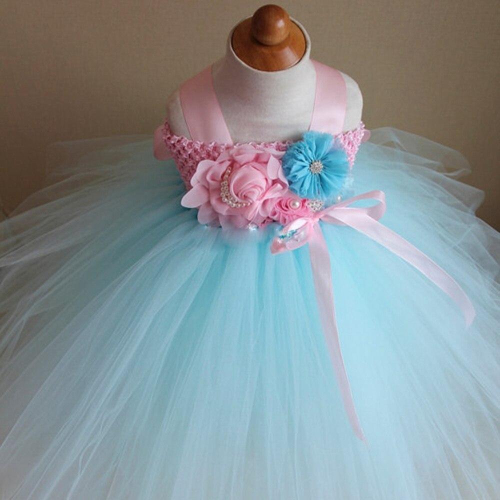 Candy Sky Blue and Light Pink Flower Girl Tutu Dress Wedding ...