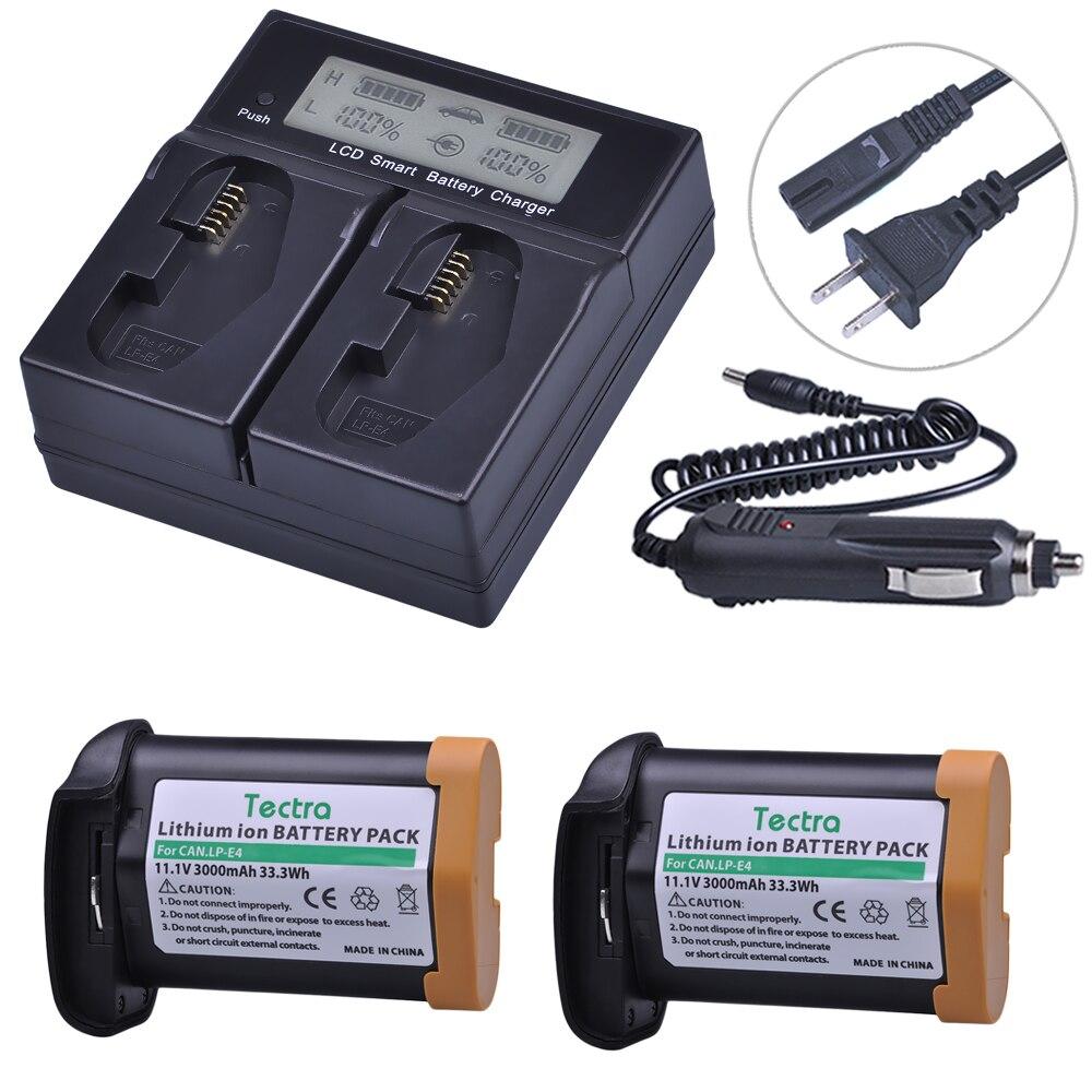 3x Batería Para Canon LP-E4 LPE4 EOS 1D Mark IV 4 ACCU