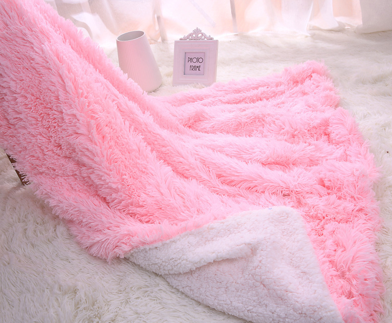 Luxury Long Shaggy Fuzzy Sofa/Air/Bedding Sherpa Throw Blankets Mantas  Fleece Fluffy Plush Bedspread Couverture Polaire Plaids In Blankets From  Home ...