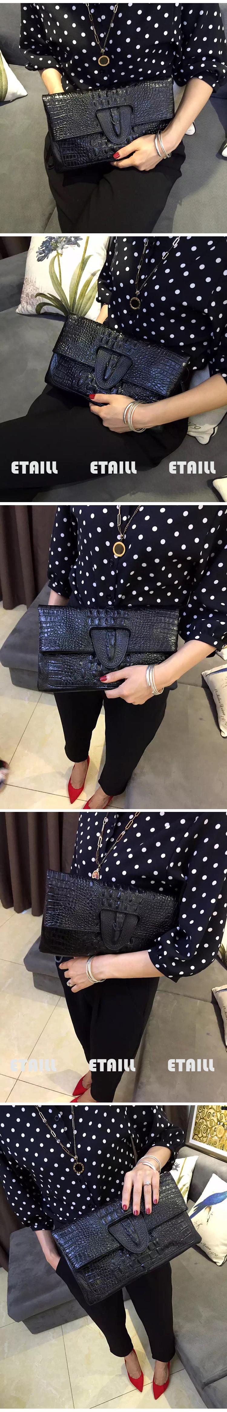 Female Day Clutch Bag Crocodile