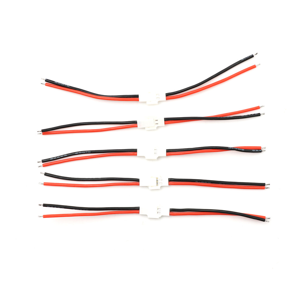 5pairs 10cm Flexible Flat Cable(FFC) 2.0mm 1S Lipo Battery Balance Charger Switch Wiring Cable Male Female For RC Parts & Accs image