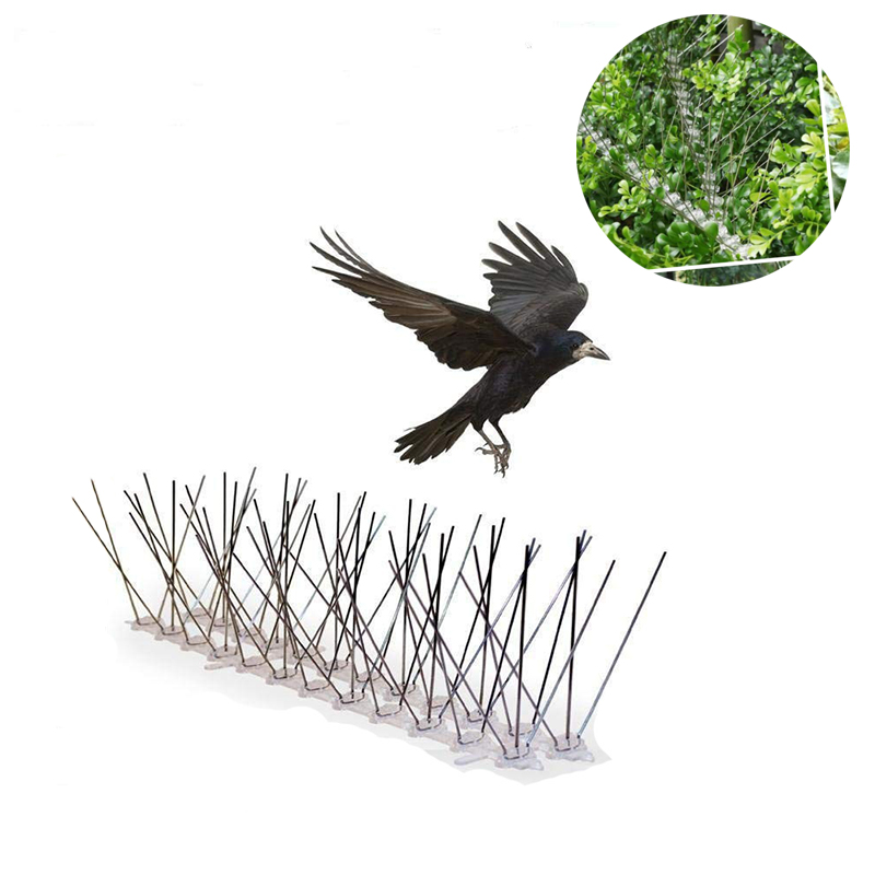 1pcs/set 30CM Stainless Steel Bird Spikes For Pigeons And Other Small Birds Fence Security Control Deterrent Kit Dropshipping