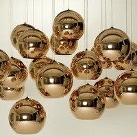Free Shipping SingleTom Dixon 35cm Copper Shade Mirror Ball Suspension Chandelier Contemporary FixturePlated Bronze