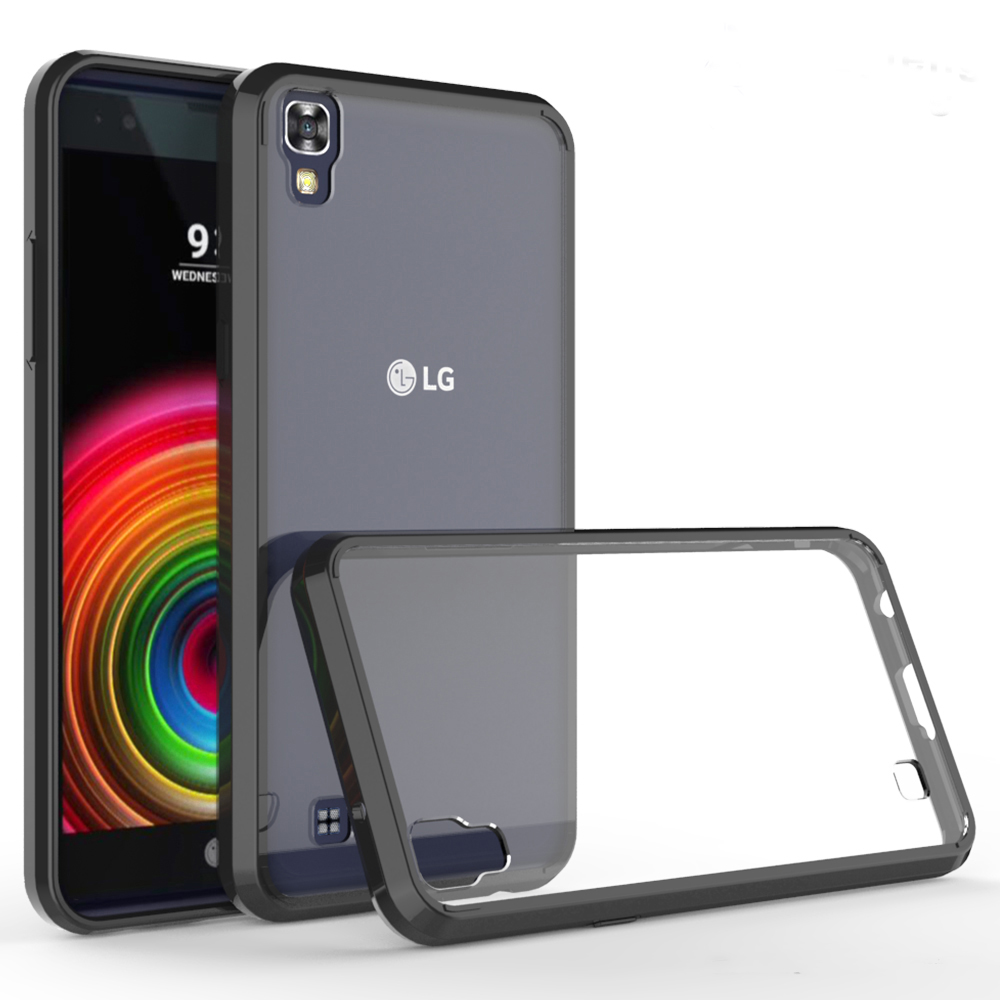 For LG X Power Case Phone Cover TPU + PC Acrylic Clear Hybrid Transparent Crystal Fundas For LG X Power XPower K210 K220 K220ds ...