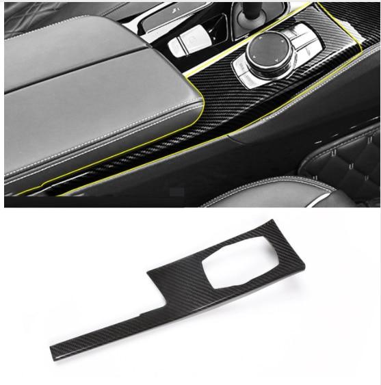 Real Carbon Fiber Car Center Console Mode Cover Panel Trim Accessories For BMW 5 Series G30 528li 530li 540li 2018 For LHD