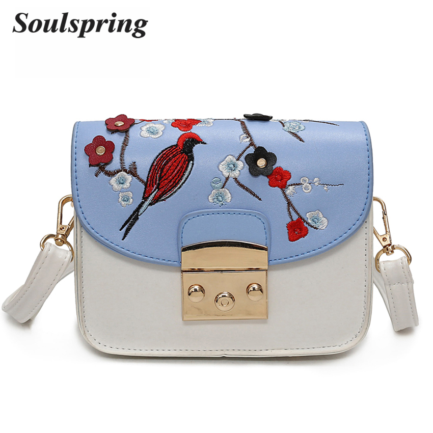 Fashion Floral Crossbody Bags For Women Mini Embroidery Messenger Bag Women Brand Lock Ladies Hand Bags Spring Summer Sac A Main women floral chain crossbody bag european fashion cover messenger bags 2016 spring ladies flap fresh shoulder bag bwb1139 4 9
