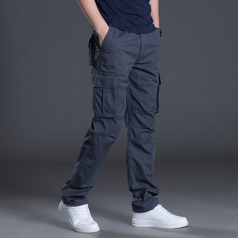 2018 neue Marke Männer Kleidung Fracht Militärarmee-hosen Multi Taschen  Beiläufige Männliche Herbst Frühling Gerade 99c27b2ec3