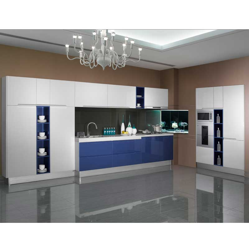 Flashing White Blue High Gloss Lacquer Guangzhou Wholesale Export Appliance  Custom Kitchen Cabinet Door Furniture OP13 294 In Kitchen Cabinets From  Home ...