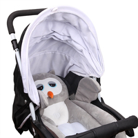 Baby Stroller Accessories Cartoon Owl Penguin Design Shaping Cushion For Stroller Pillow Travel Portable Mat Pad Cute Cushion